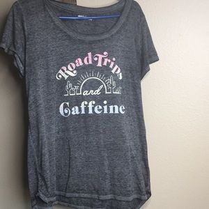 Road trip and caffeine screen T-shirt